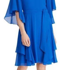 Ralph Lauren Ruffle Georgette Dress